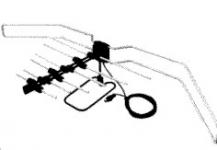 Антенна ТВ Дельта-К331,02 всеволновая комнатная